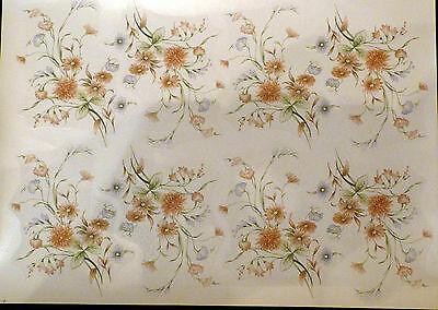 CERAMIC DECALS 6 HARLOW 747701 14cm X 10cm 8 ON A SHEET RIGHT PRICE
