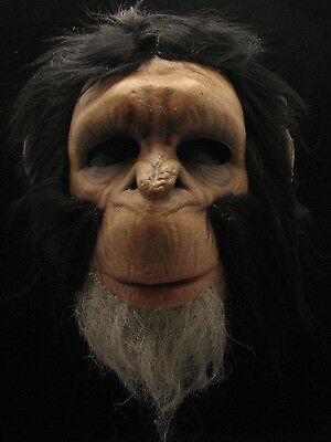 Chimpanzee Costume Half Face Mask Adult One Size