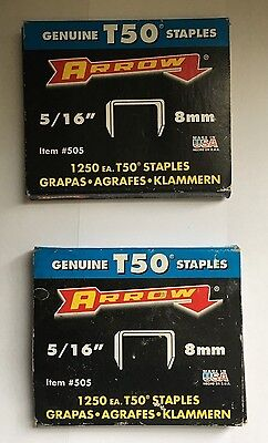 "Arrow - T50 Genuine Arrow Staples - 5/16"" 1250 Heavy Duty - #505"