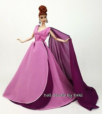 Purple Ball Gown Evening Dress Outfit Fits Barbie Silkstone Fashion Royalty FR