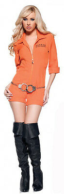 Busted Prisoner Romper Adult Costume