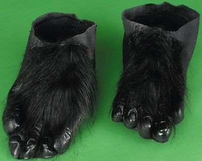 Black Adult Hairy Costume Feet