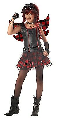 Rebel Fairy Punk Rock Goth Girl Dress Costume Tween Large 10-12