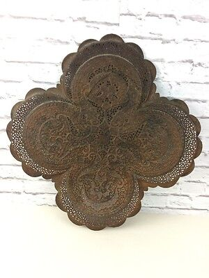 Vintage Middle Eastern Pierced Bronzed/ Copper? Tray Of Quadruped Form.