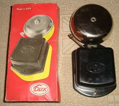 DUX vintage rare electric door bell Black 24V made in GDR in original pack NOS