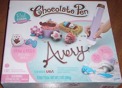 Real Cooking Chocolate Pen 1 Full Set 4 Colors 50 Molds New in Box