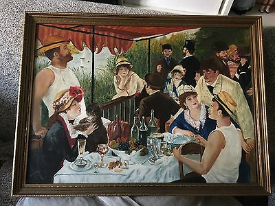 vintage painting  oil on board copy signed