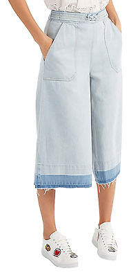Sea New York New with Tags Blue Washed Out Denim Culottes