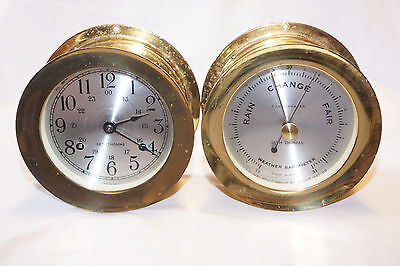Vintage Seth Thomas Corsair Ships Bell Clock & Barometer E537-010 As Is Parts