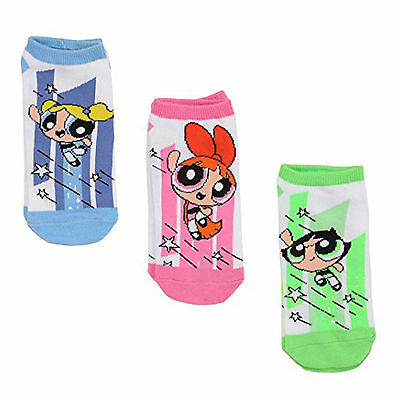 Powerpuff Girls Jump 3 Pairs Of Low Cut Socks NEW Toys Clothing Cartoon
