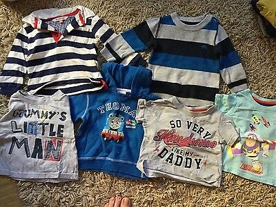 9-12month boys bundle tshirts and jumpers