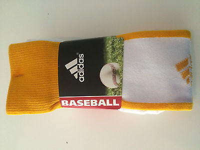 ADIDAS BASEBALL Climate Cushioned 2 PAIR SOCKS Kids/Youth SMALL Size 13C-4Y NEW