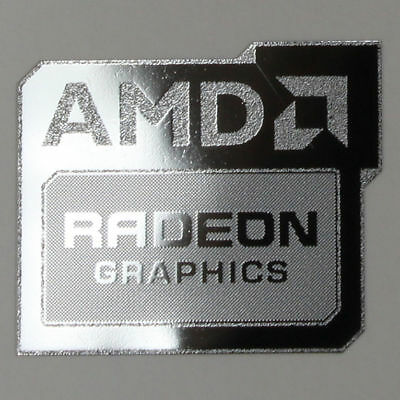 1x AMD Radeon Graphics Sticker WINDOWS Computer 8 PC 10 7 Desktop Laptop Genuine