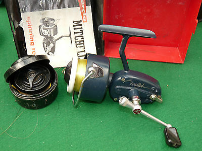 fine vintage fishing reel Garcia Mitchell match & spools and box collector