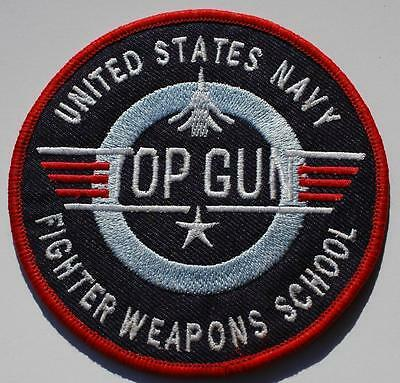 US NAVY Top Gun Figher Weapons School Morale Embroidered Sew On Patch n-785