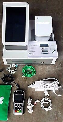 2 Clover POS System Stations C100 touch screen w/ mini  1st Data