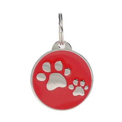 Smart Pet ID Tag, QR Code, NFC, GPS Location Identity Cloud Tag PetTouchID (Red)