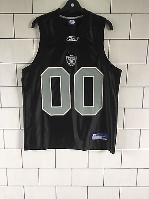 Mens Black Urban Vintage Retro Reebok Nfl Oakland Raiders Swingman Jersey Large
