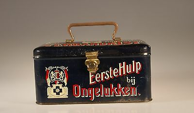 "Vintage Dutch ""Eerste Hulp"" First Aid Kit/Tin with Original Contents"