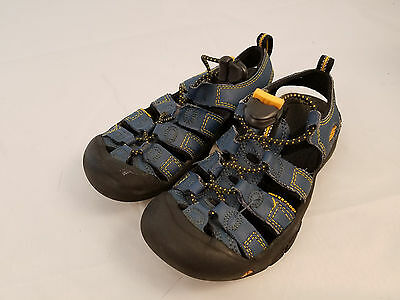 Keen Size 1 Boys Sandals Blue Sports Hiking Quality Shoes Kids Girls Slip On
