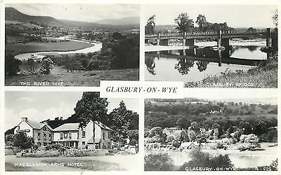 s09001 Glasbury-on-Wye, Radnorshire, Wales RP postcard unposted