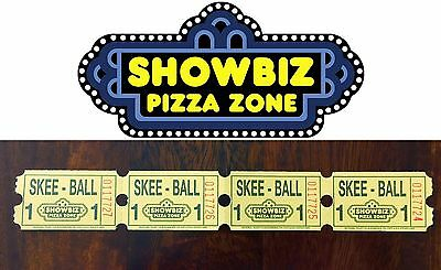 Strip of 4 ShowBiz Pizza Zone Tickets (Phenix City, AL) Rock-afire Explosion