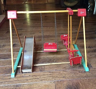 VINTAGE 1950's VOGUE GINNY DOLL PLAYSET Ginny's Gym Swing Slide Teeter Totter