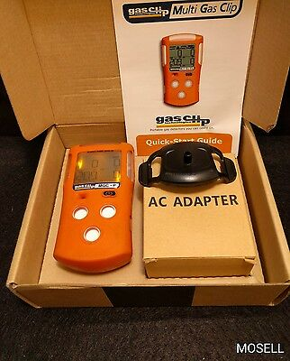 Gas Clip Technologies MGC-P Gas Detector O2 CO H2S LEL Combustible