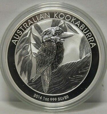 100 x 1 oz 99.9% Silver Perth Mint 2014 Kookaburra Coin