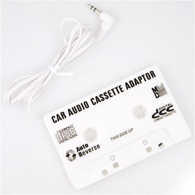 Audio Cassette Tape Adapter Auxiliary Cable 3.5mm Jack for MP3 iPod CD Player
