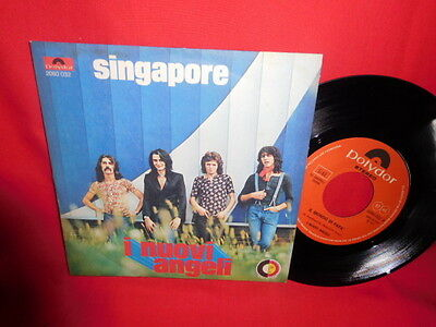 I NUOVI ANGELI Singapore 45rpm 7' + PS 1972 ITALY MINT VECCHIONI