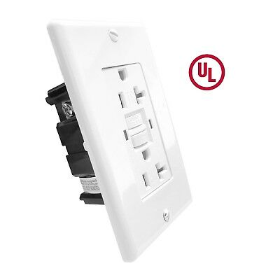 (10 pcs.) 20 Amp GFCI Receptacle Outlet w/LED & Wallplate