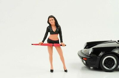 Cool Grid Girl I Umbrella Figurine Racing Crew 1:18 AMERICAN DIORAMA NO CAR