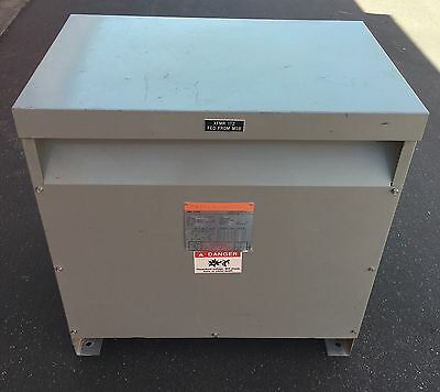 ITE 112.5 KVA Transformer 3 Phase Primary 480 Sec. 208/120 3F3Y112 Tested