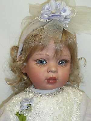 """24"""" Vinyl Doll by Fayza Spanos #221/500 Has Been on Display, Has Some Wear"""