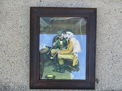 Nice Antique Arts & Crafts era Oak Framed Color Litho ~ Emil Spielvogel Publ.