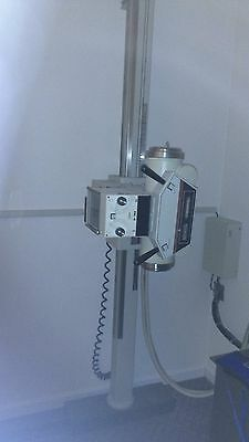 Transworld 350V x-ray machine with upright wall stand and auto film processor