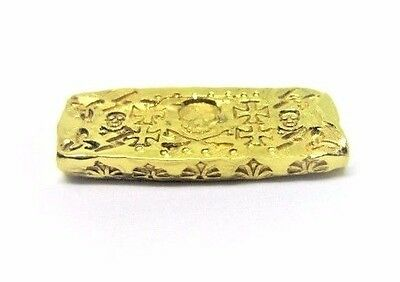 1 Troy Oz .999 Fine 24k Gold Art Bar - Hand Poured - Hand Stamped - Grimm Metals