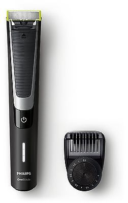 Philips OneBlade Pro QP6510/30 Hybrid Trimmer and Shaver (12-Length Comb) - Excl
