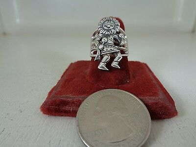 Kachina  Sunface Ring .925 Sterling Silver Size 7 By Micky Vello