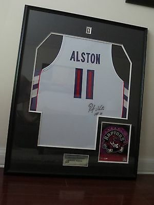 Signed Rafer Alston Jersey under Glass with COA