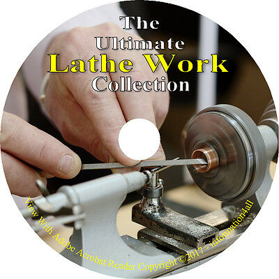 29 Books on CD, Ultimate Library on Lathes, How to Run a Lathe, Instructions
