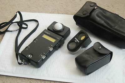 MINOLTA FLASH METER III Ambiant, flash Incident & Reflected with Attachment