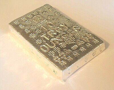 10 Troy Oz. .999 Fine Silver Art Bar - Hand Poured - Hand Stamped - Grimm Metals