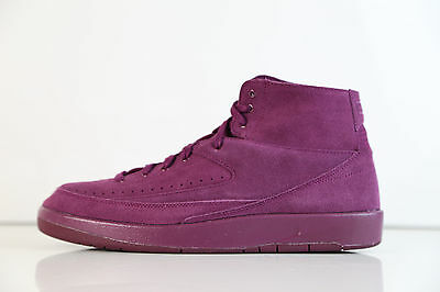 purchase cheap b6d67 8cec4 NIKE AIR JORDAN Retro 2 Decon Burgundy Bordeaux Suede 897521-606 9-14 1 11  12