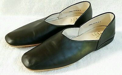 Church's Black Leather Hard Sole House Slippers Men's UK 11