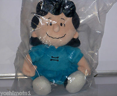 "Lucy Van Pelt Peanuts Vhtf Metlife Promo Plush Very Rare! 8"" New Sealed!!"