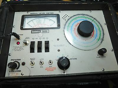 Sadelco Model 7600 Signal Level Analog Meter Electrical Tester!