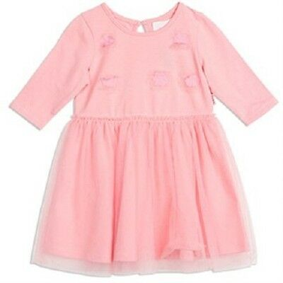 Pumpkin Patch Baby Girl Pink Flutter Flower Tutu Dress Sizes 6 mths-2 yrs BNWT