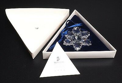 Swarovski Holiday Snowflake Ornament 1996 With Box And Certificate
